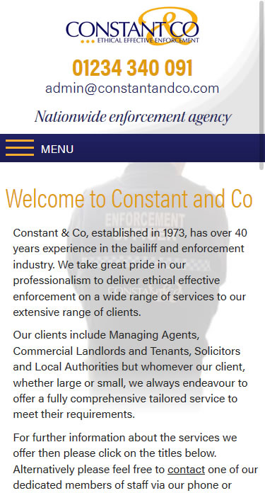 Constant & Co Mobile Site