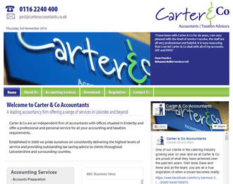Carter and Co Accountants Website