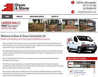 Dixon & Stone Construction Website