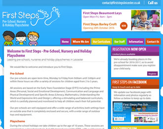 First Steps Pre-School Website